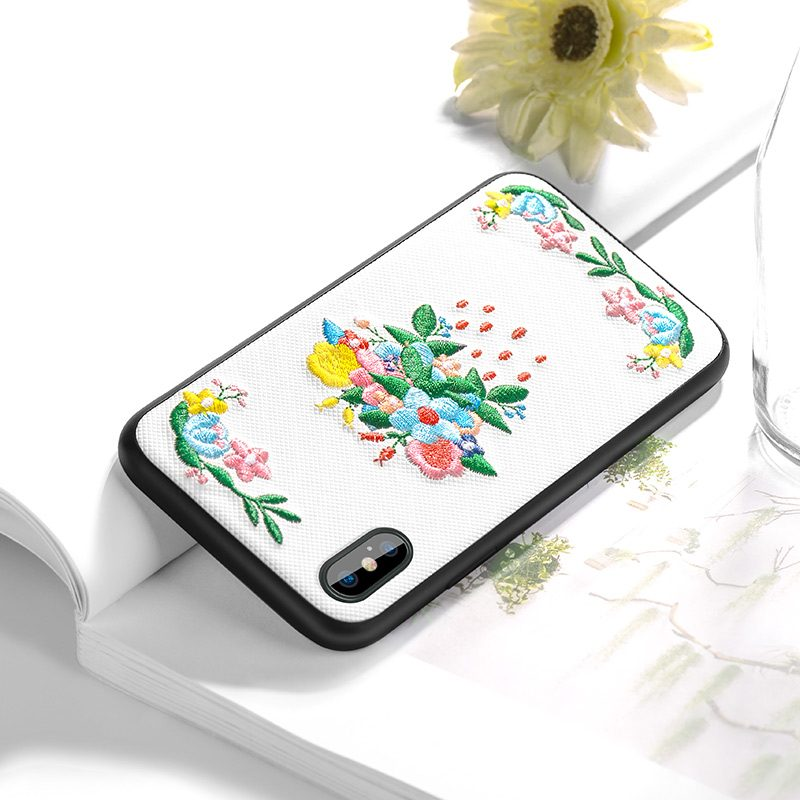 iphone x summery flowers series protective case on book