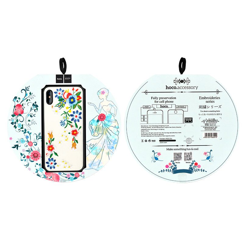 iphone x summery flowers series protective case package