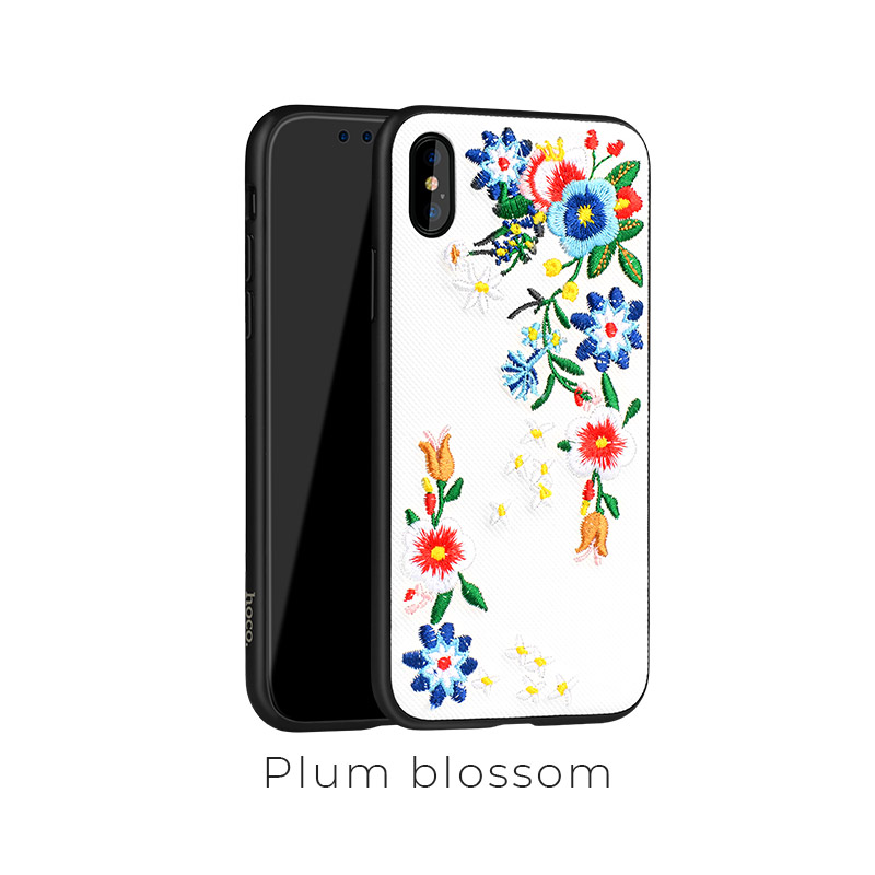 ip x summery flowers case plum blossom