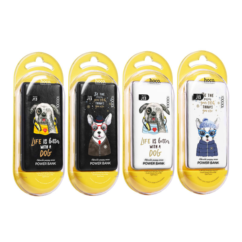 j13 adorable puppy series power bank 10000 mah packages