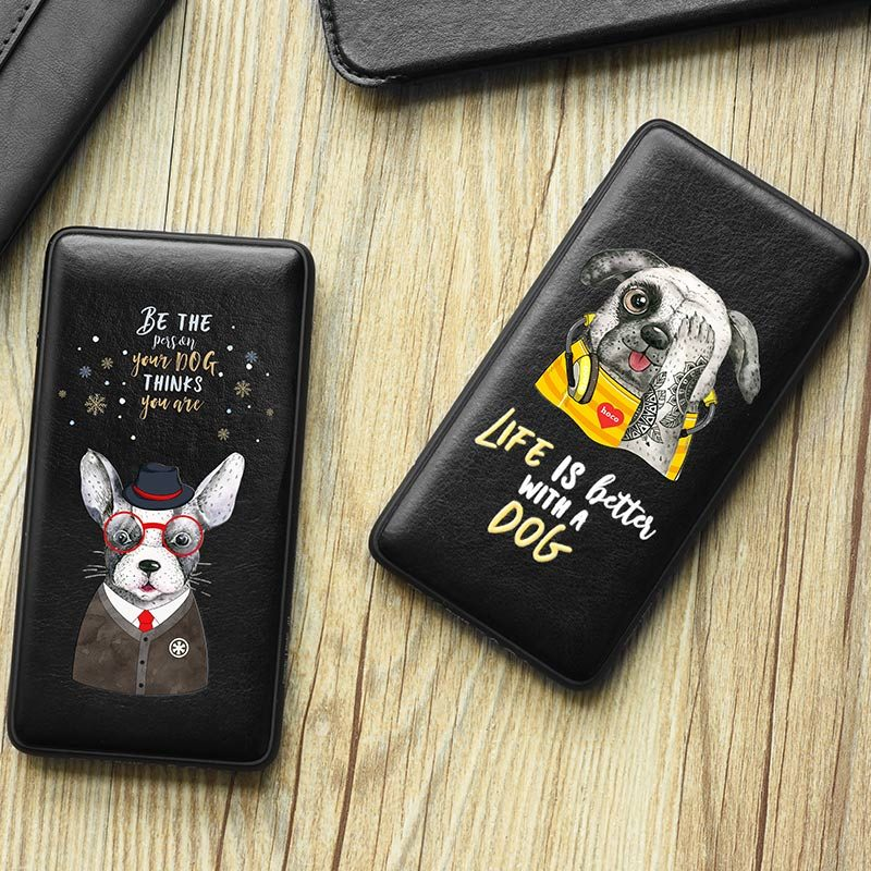 j13 adorable puppy series power bank 10000 mah twins