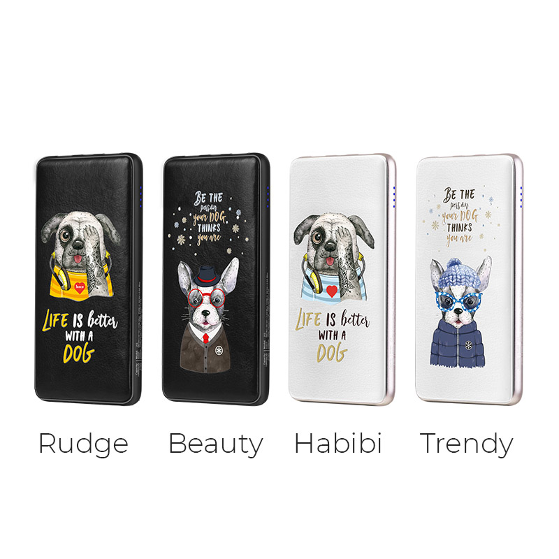 j13 adorable puppy series power bank 10000 mah variations