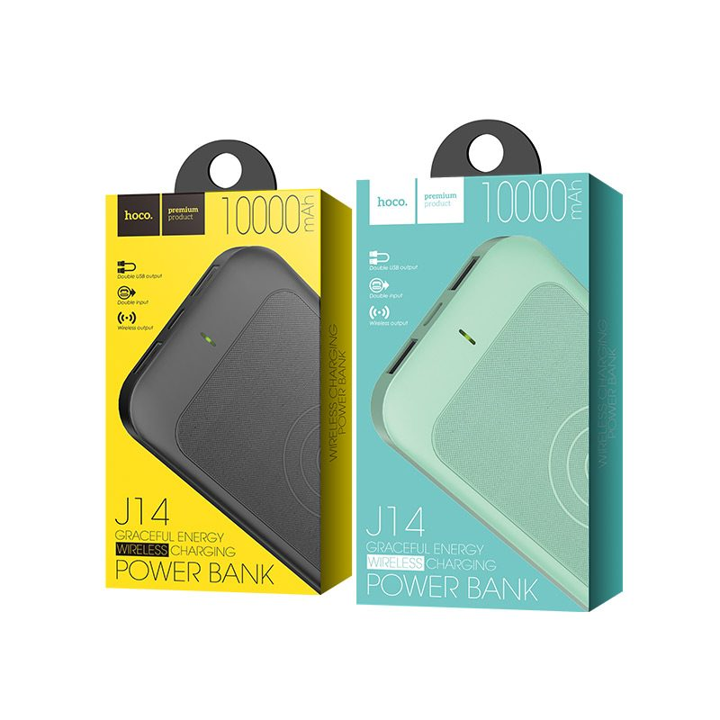 j14 graceful energy wireless charging power bank 10000 mah packages