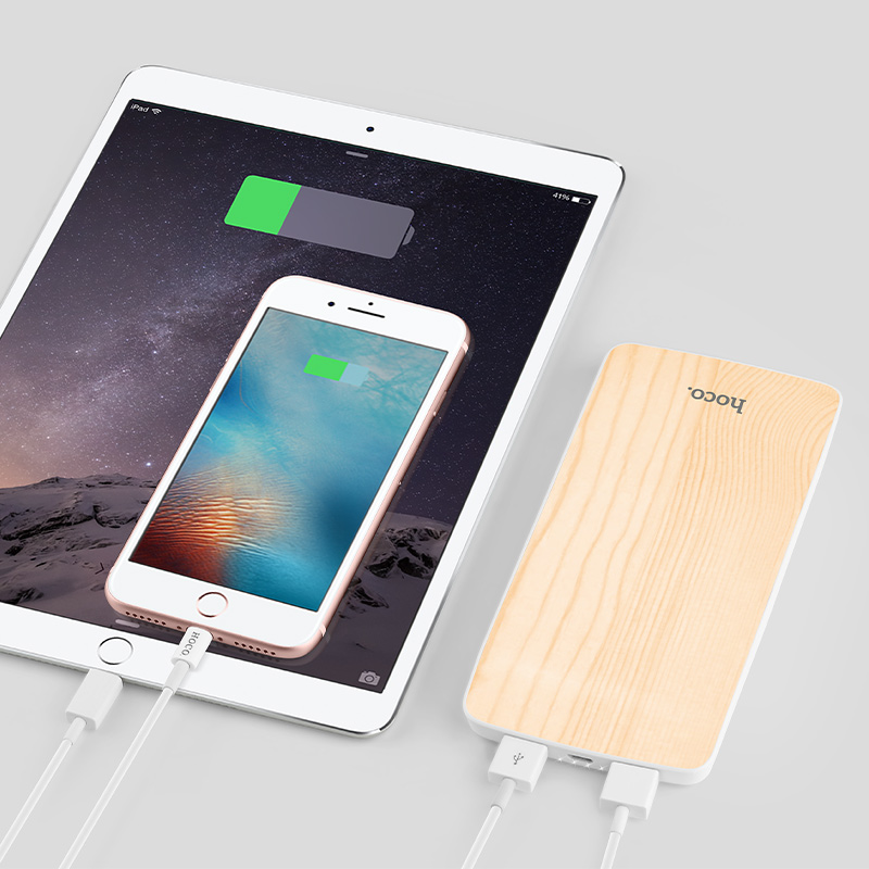 j5 wooden power bank 8000 mah charging