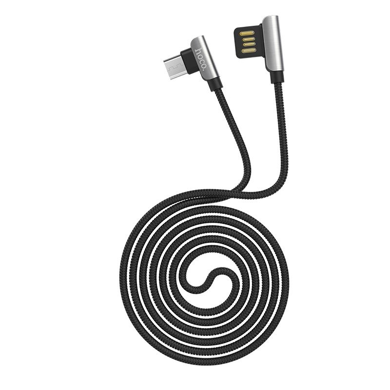 u42 micro usb exquisite steel charging data cable rounded