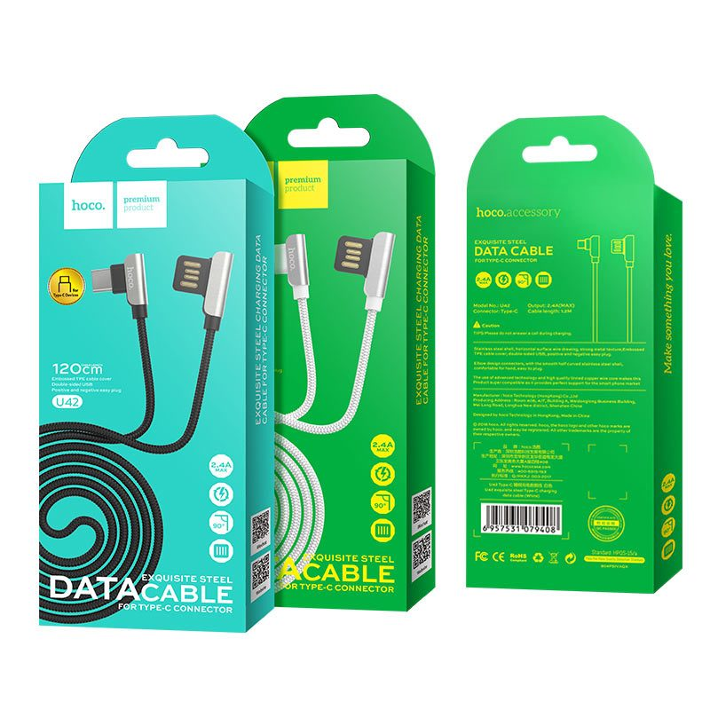 u42 type c exquisite steel charging data cable packages