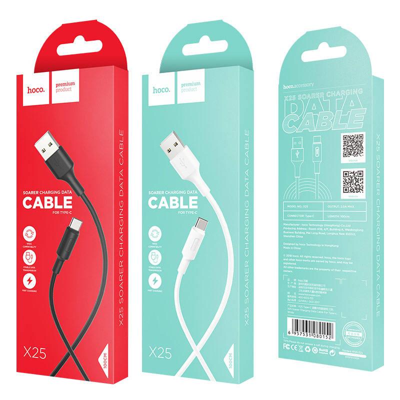 x25 type c soarer charging data cable packages