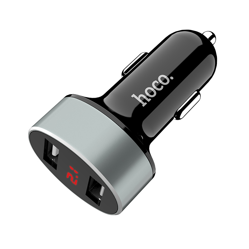 z26 high praise dual port car charger with digital display main