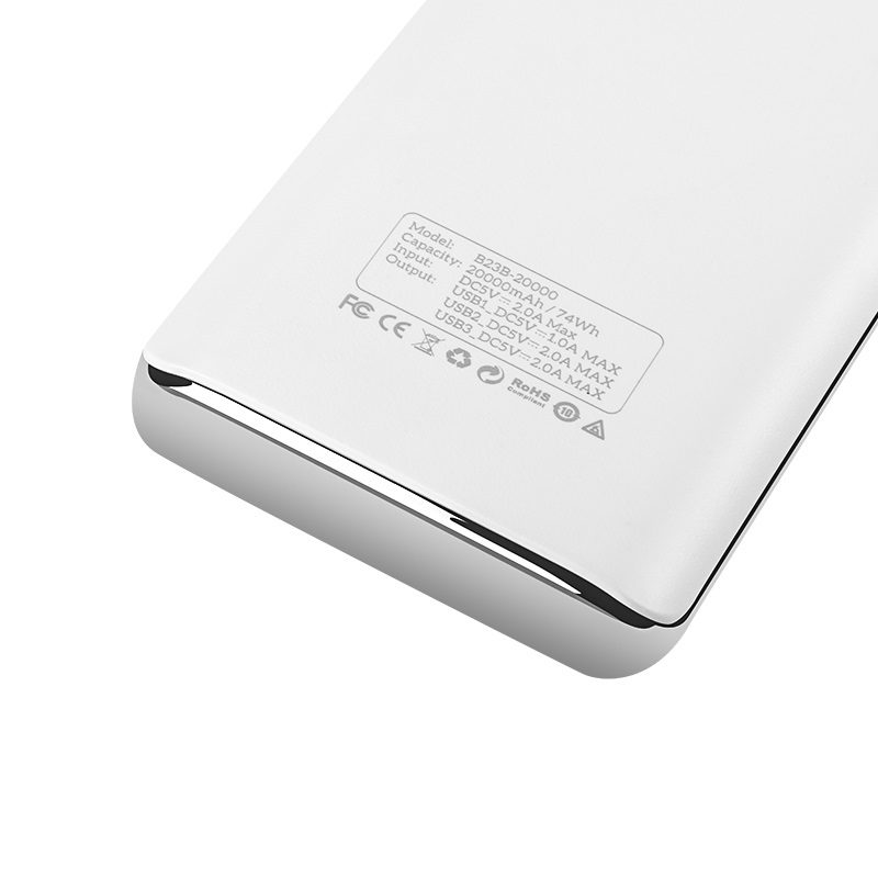 b23b 20000 flowed power bank spec