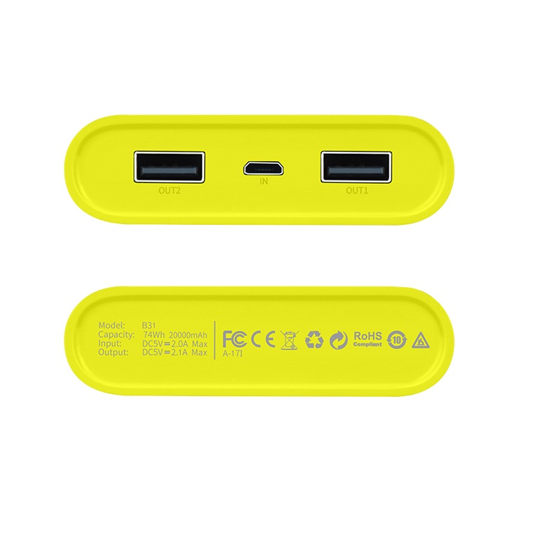 b31 rege power bank usb bottom