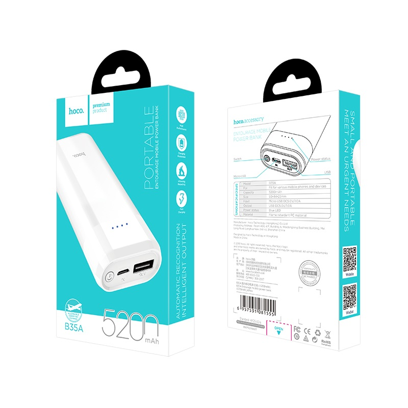 b35a entourage mobile power bank package front back