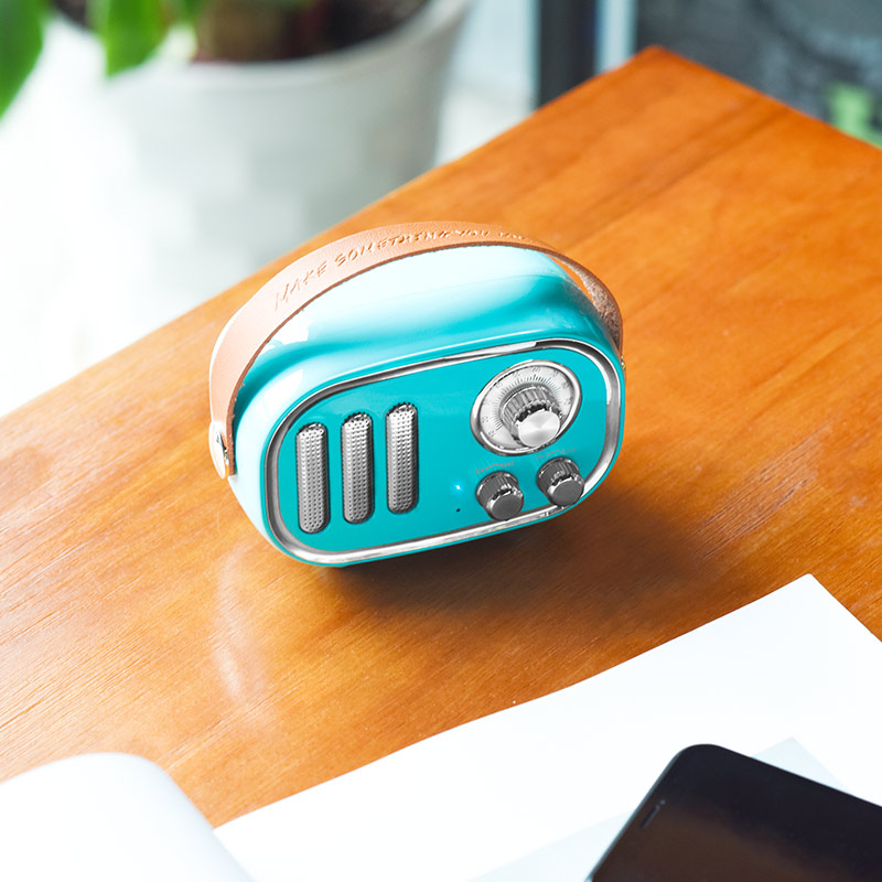 bs16 voice reminder bluetooth speaker table