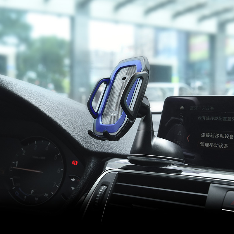 ca32 platinum infrared auto induction in car phone holder interior blue