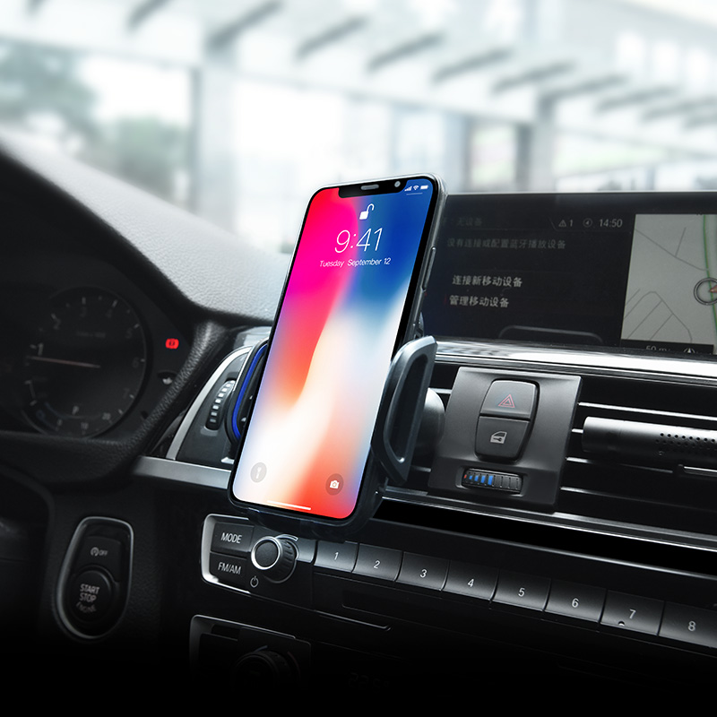 ca32 platinum infrared auto induction in car phone holder with phone