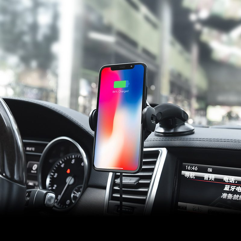 ca35 auto induction wireless charging in car phone holder dashboard with phone