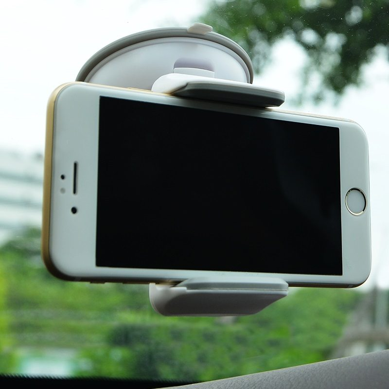 ca5 suction cell phone in car holder gray with phone