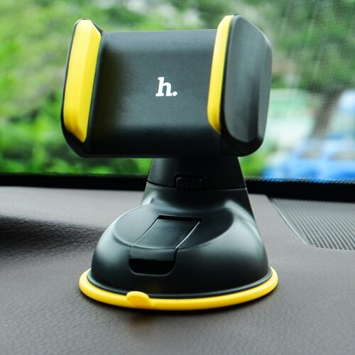 ca5 suction cell phone in car holder interior yellow