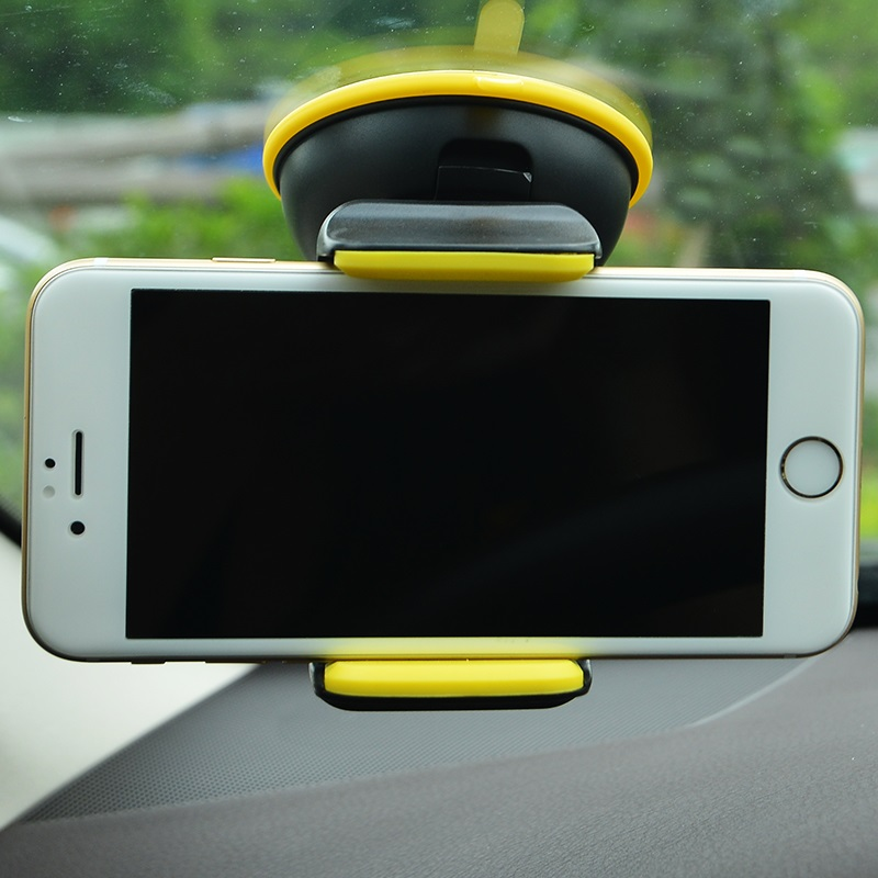 ca5 suction cell phone in car holder yellow with phone