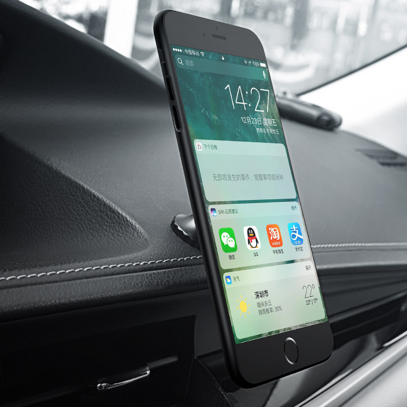 ca9 magnetic metal in car mounted mobile phone holder with phone right