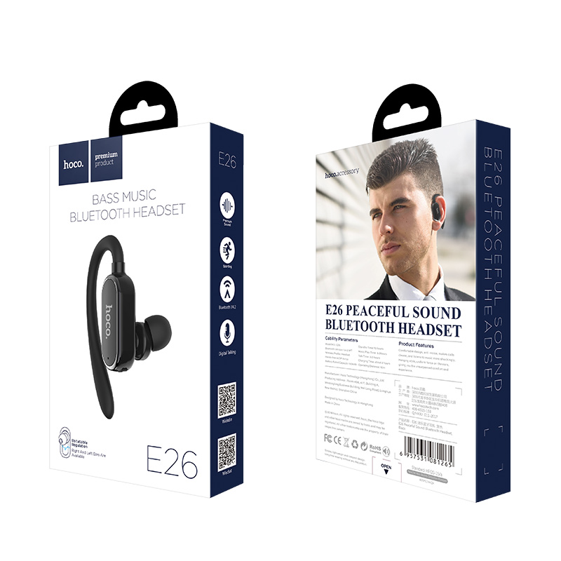 e26 peaceful sound bluetooth headset packages
