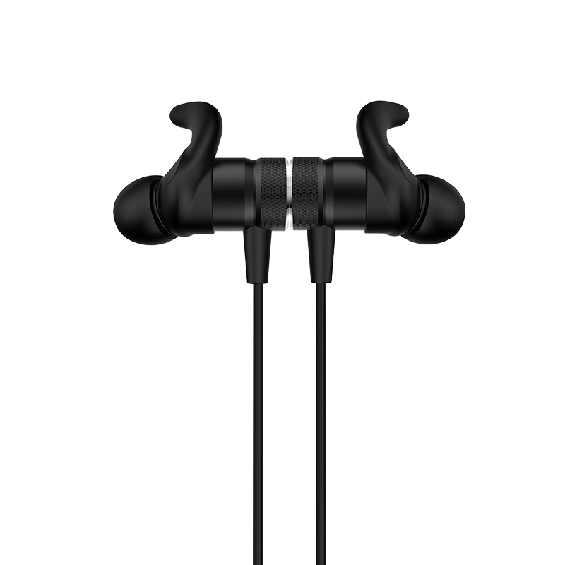 es8 nimble sporting bluetooth earphones magnet black front