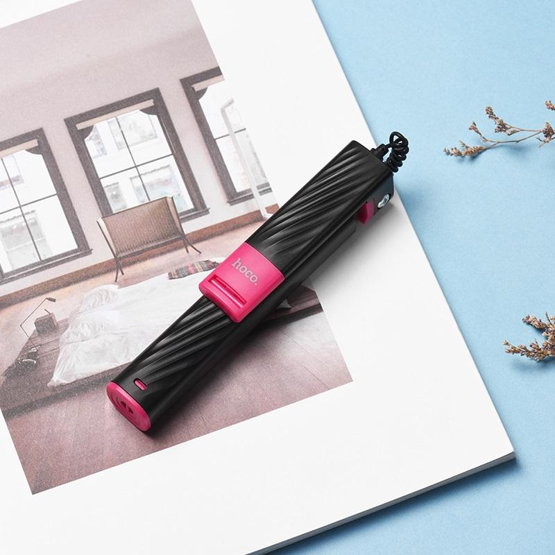 k7 dainty mini wired selfie stick interior black