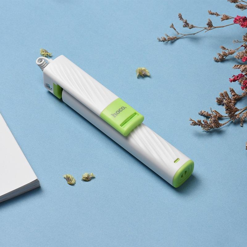 k7 dainty mini wired selfie stick interior white