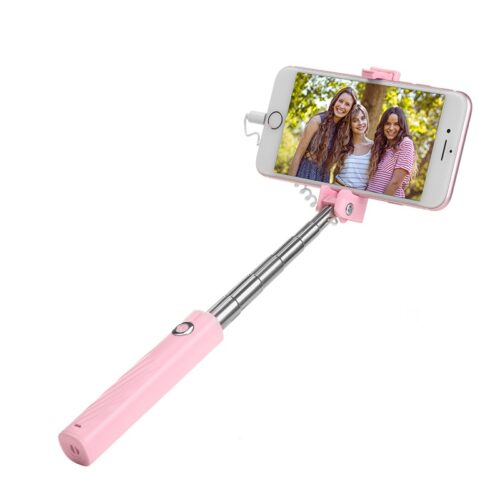 k8 starry lightning mini wired selfie stick with phone