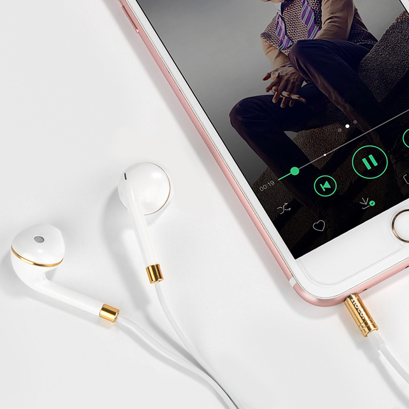 m1 original series earphone for apple white with phone