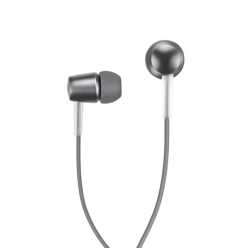 m10 metal universal earphone with mic tarnish front side