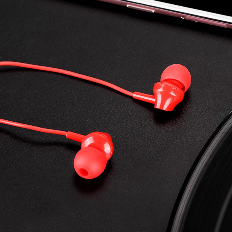 m14 inital sound universal earphones with mic interior red