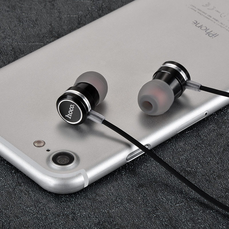 m16 ling sound metal universal earphones with mic black with phone