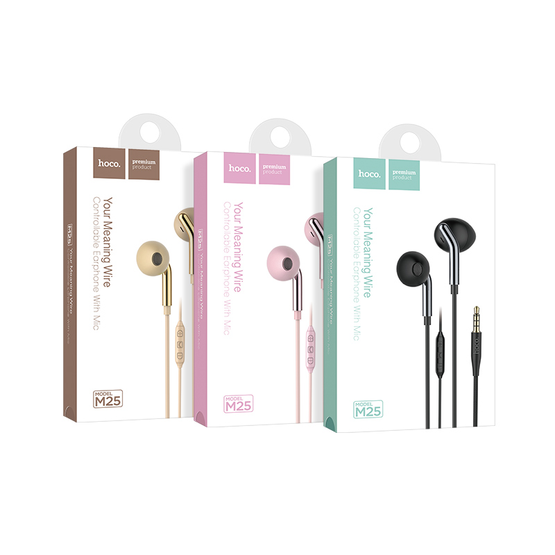 m25 your meaning wired earphones with mic package