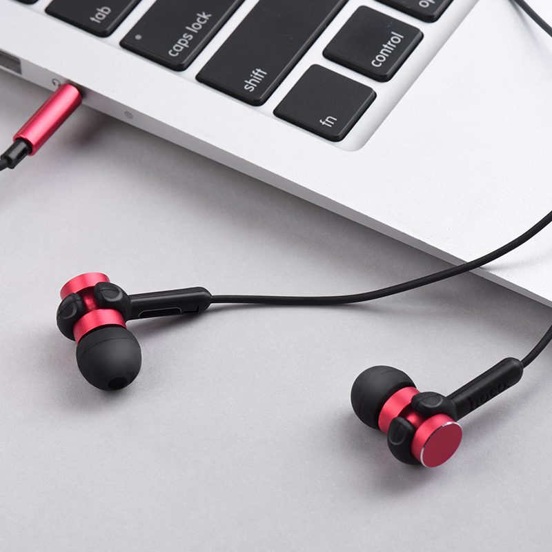 m38 rhythm universal earphones with microphone red interior