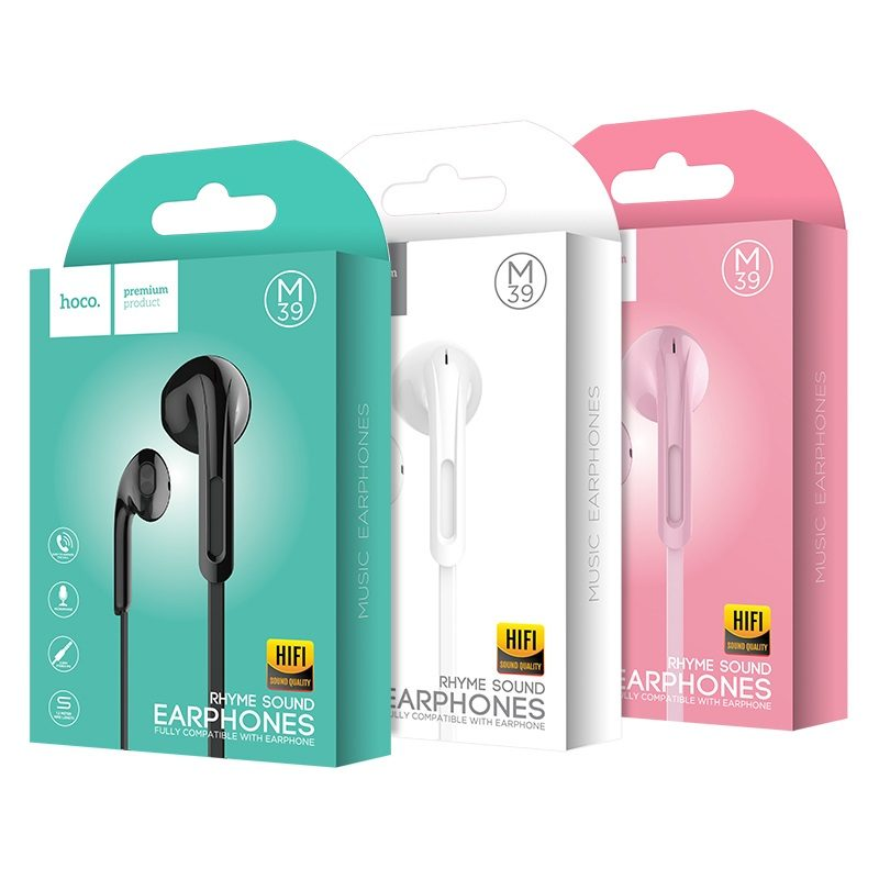 m39 rhyme sound earphones with microphone packages