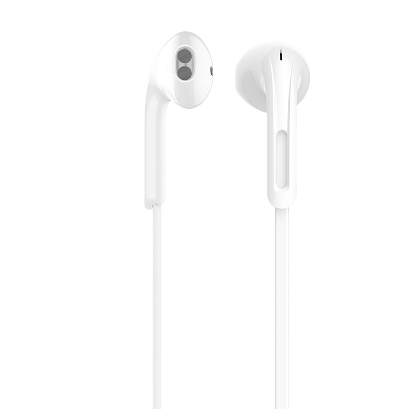 m39 rhyme sound earphones with microphone white top left