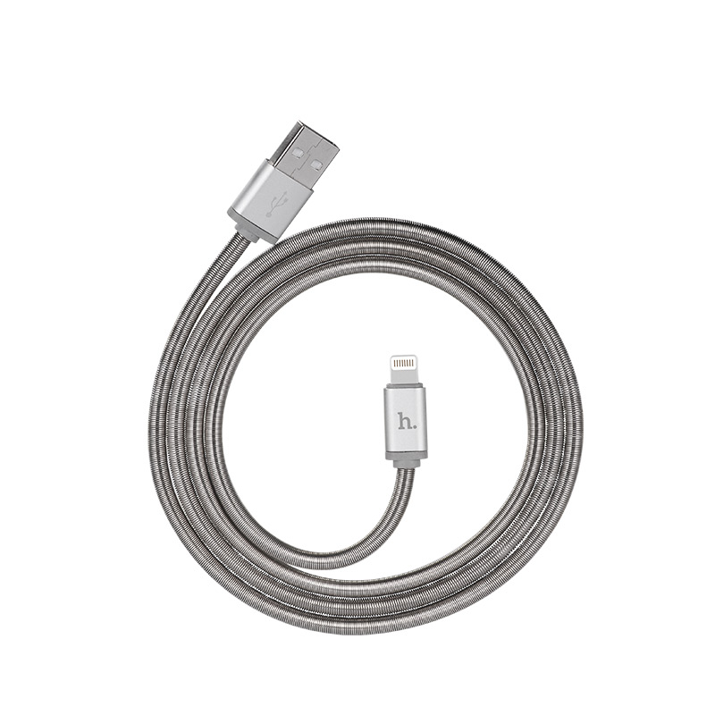 u5 full metal lightning charging cable rounded