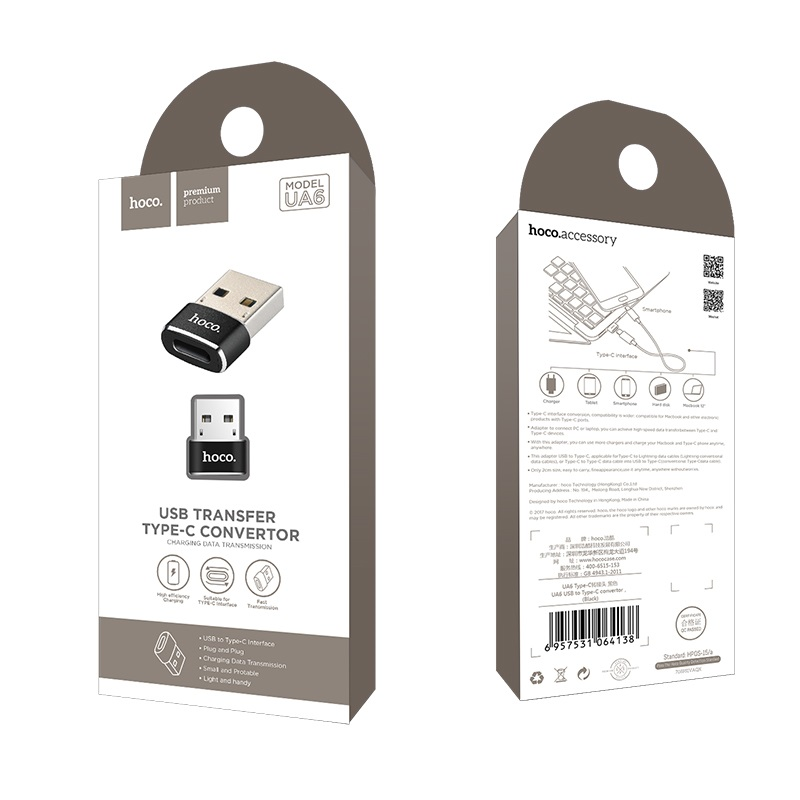 ua6 type c to usb convertor package