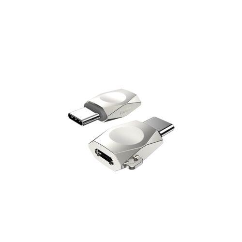 ua8 type c to micro usb adapter pearl nickel