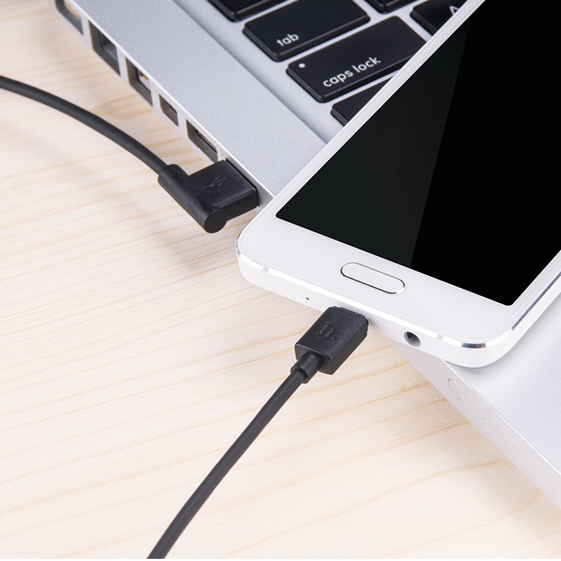 upm10 l shape micro usb charging cable use