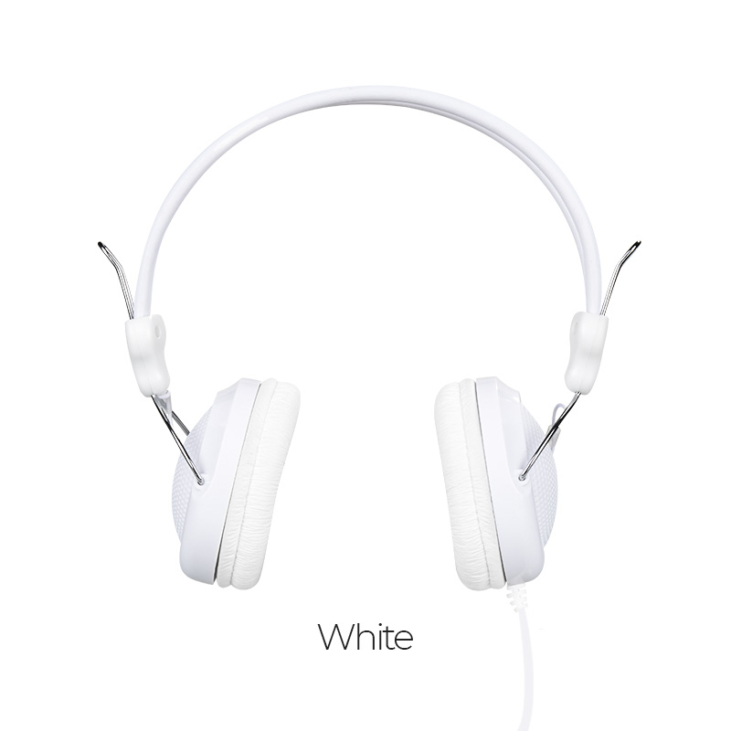 w5 wired headphones color white