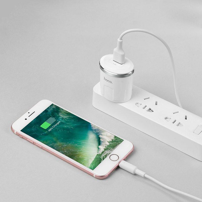 c37 雷威单口充电器 美规 套装配 Lightning充电线 手机