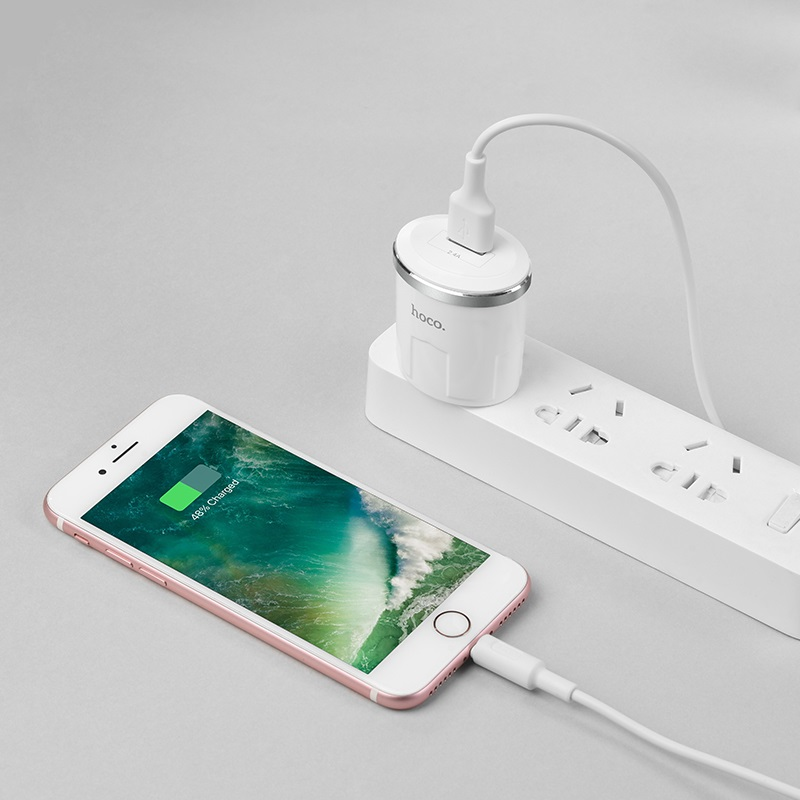 c37 thunder power single usb port us charger set with lightning cable phone