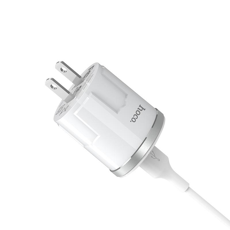 c37 thunder power single usb port us charger set with lightning cable plug
