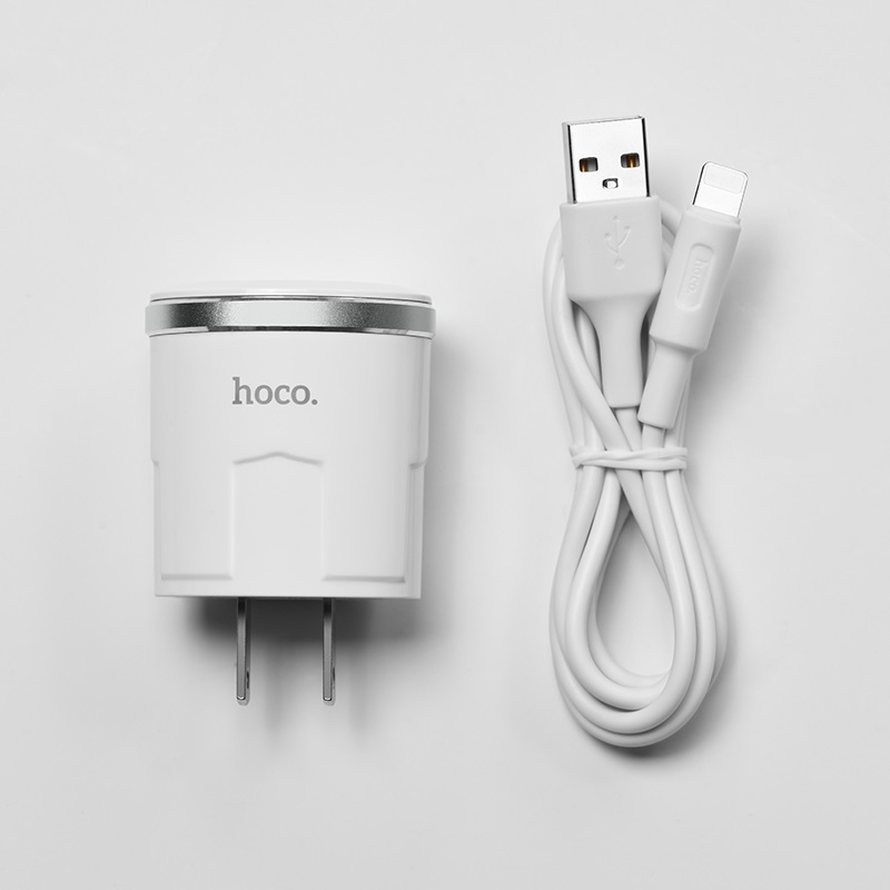 c37 thunder power single usb port us charger set with lightning cable wire