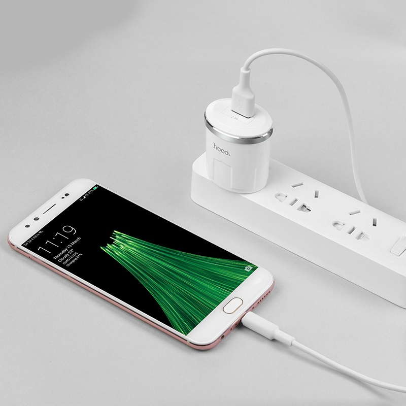 c37 thunder power single usb port us charger set with micro usb cable charging mobile phone