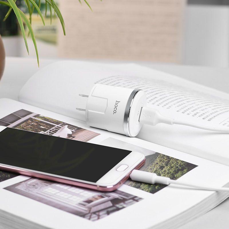 c37 雷威单口充电器 美规 套装配 micro usb充电线 手机