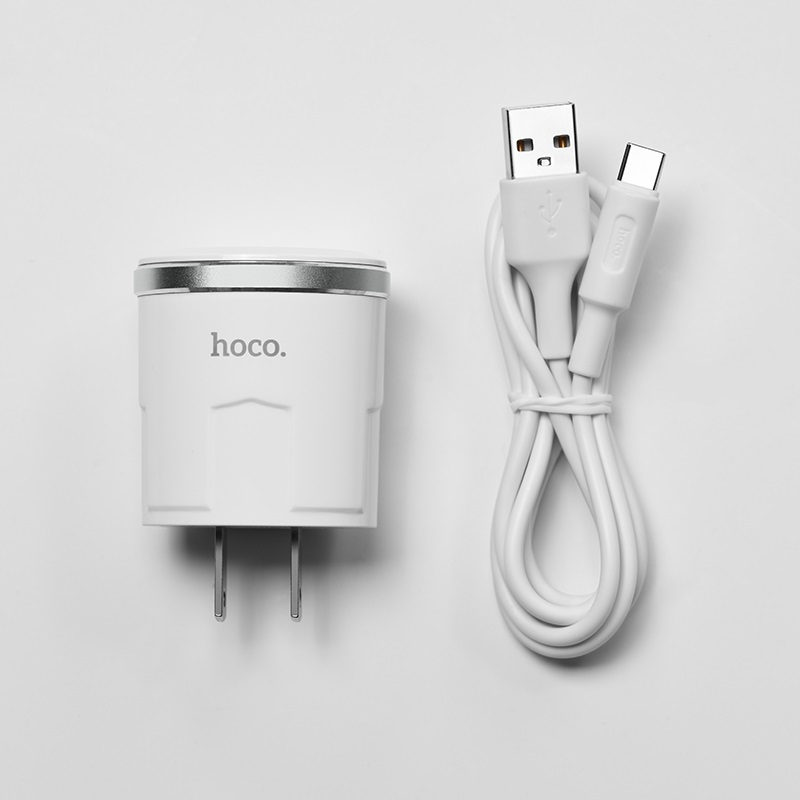c37 thunder power single usb port us charger set with type c cable kit