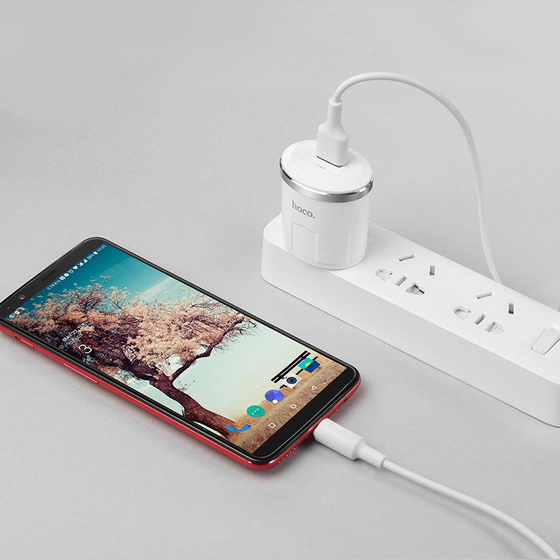 c37 thunder power single usb port us charger set with type c cable overview