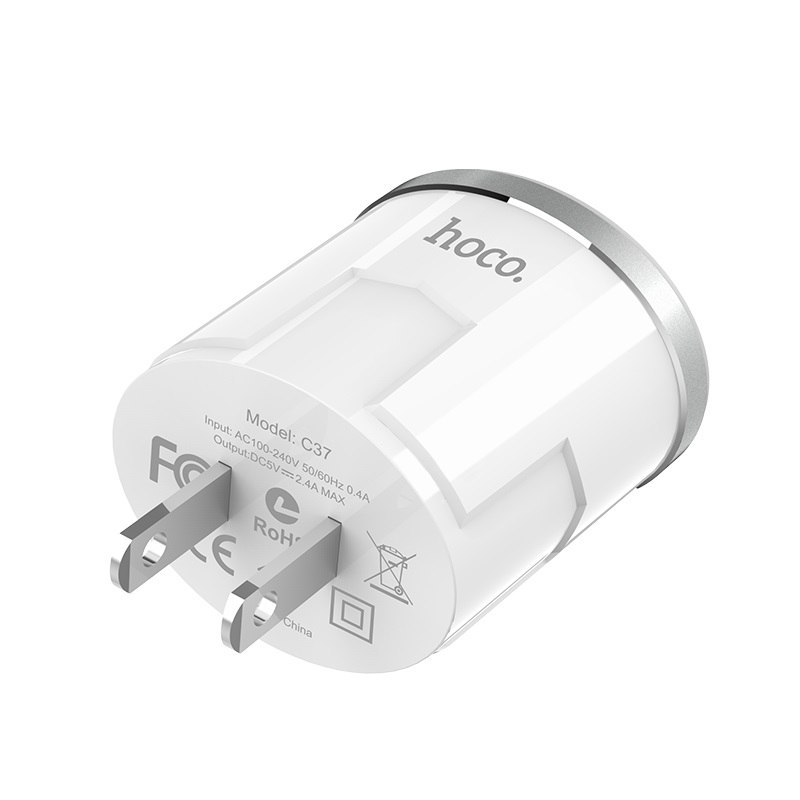 c37 thunder power single usb port us charger specification
